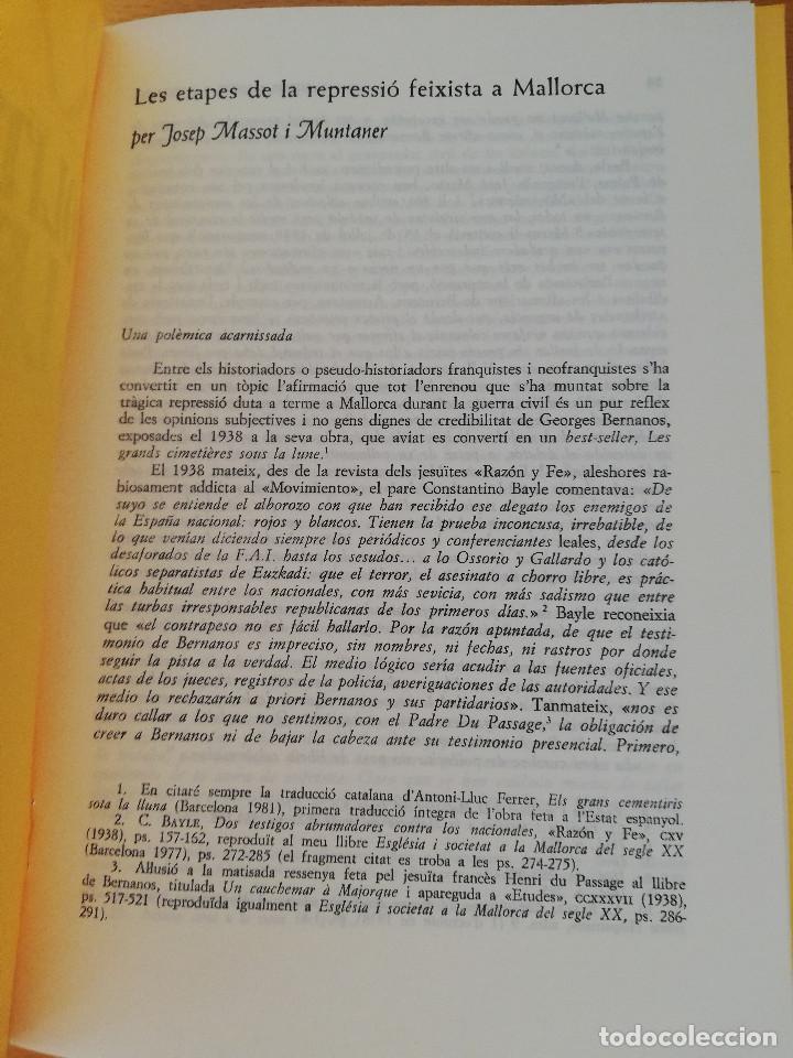 Coleccionismo Papel Varios: RANDA. POLÍTICA I CULTURA A LES BALEARS. SEGLES XIX - XX (24) ETAPES REPRESSIÓ FEIXISTA A MALLORCA - Foto 2 - 163567842