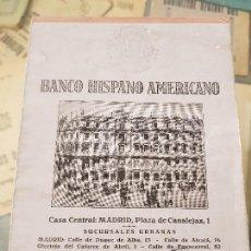 Coleccionismo Papel Varios: BALANCE BANCO HISPANO AMERICANO 1932. Lote 164087906
