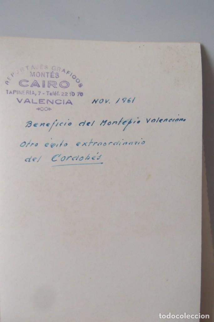 Coleccionismo Papel Varios: LOTE 2- EL CORDOBES- FOTOS ORIGINALES- 1961 - 1964. - Foto 5 - 164520026