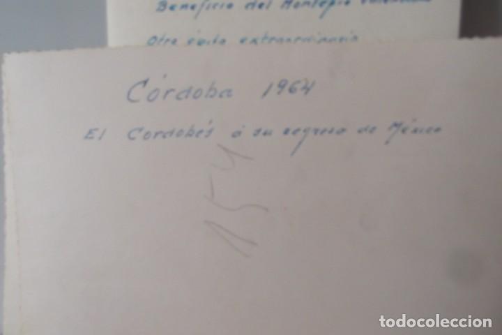 Coleccionismo Papel Varios: LOTE 2- EL CORDOBES- FOTOS ORIGINALES- 1961 - 1964. - Foto 6 - 164520026