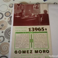 Outros artigos de papel: TARJETA APODERADO DE ASUNTOS TAURINOS. Lote 164704118