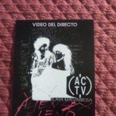 Coleccionismo Papel Varios: FLYER DISCOTECA ACTV DIRECTO ALIEN SEX FIEND RUTA VALENCIA 1989. Lote 164869978