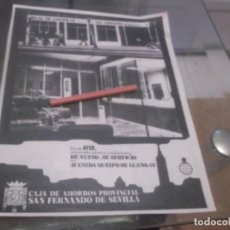 Coleccionismo Papel Varios: RECORTE PUBLICIDAD AÑOS 60 - SEVILLA , CAJA DE AHORROS PROVINCIAL SAN FERNANDO DE SEVILLA. Lote 164973230
