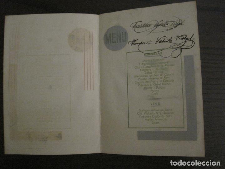 Coleccionismo Papel Varios: NOCES DARGENT CASA E. VEHILS VIDAL-ANY 1933-MENU ANTIC FIRMAT-VER FOTOS-(V-17.008) - Foto 4 - 165100838