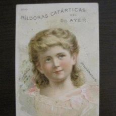 Coleccionismo Papel Varios: FARMACIA-CARTELITO CROMO ANTIGUO ORIGINAL-DR AYER-VER FOTOS-(V-17.021). Lote 165104538
