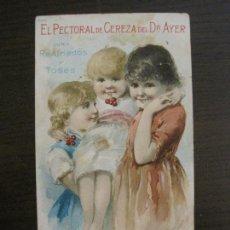 Coleccionismo Papel Varios: FARMACIA-CARTELITO CROMO ANTIGUO ORIGINAL-DR AYER-VER FOTOS-(V-17.022). Lote 165104698