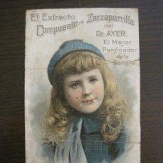 Coleccionismo Papel Varios: FARMACIA-CARTELITO CROMO ANTIGUO ORIGINAL-DR AYER-VER FOTOS-(V-17.023). Lote 165104742