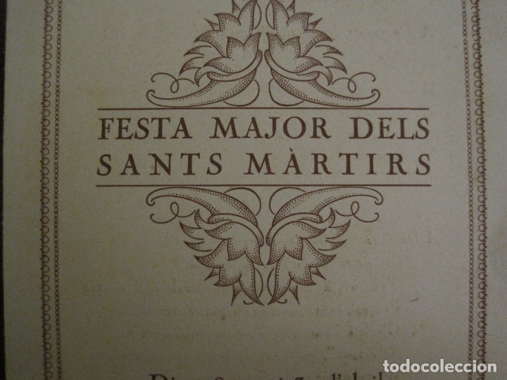 Coleccionismo Papel Varios: SANT GENIS DE VILASSAR-FESTA MAJOR DELS SANTS MARTIRS-ANY 1925-VER FOTOS-(V-17.029) - Foto 3 - 165106706
