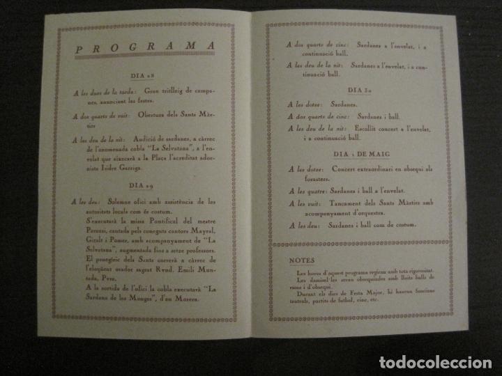 Coleccionismo Papel Varios: SANT GENIS DE VILASSAR-FESTA MAJOR DELS SANTS MARTIRS-ANY 1925-VER FOTOS-(V-17.029) - Foto 5 - 165106706