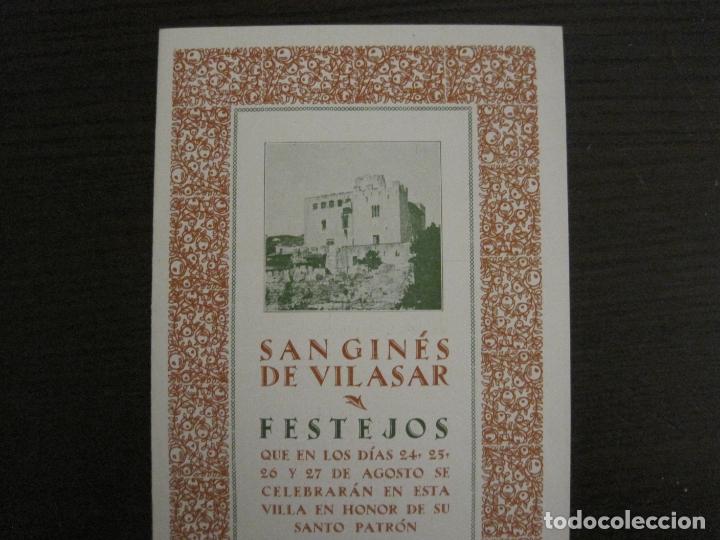 Coleccionismo Papel Varios: SANT GENIS DE VILASSAR-SAN GINES DE VILASAR-FESTEJOS AÑO 1928-VER FOTOS-(V-17.030) - Foto 2 - 165106870