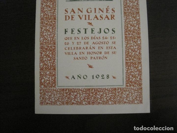 Coleccionismo Papel Varios: SANT GENIS DE VILASSAR-SAN GINES DE VILASAR-FESTEJOS AÑO 1928-VER FOTOS-(V-17.030) - Foto 3 - 165106870