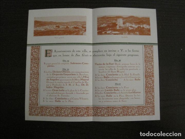 Coleccionismo Papel Varios: SANT GENIS DE VILASSAR-SAN GINES DE VILASAR-FESTEJOS AÑO 1928-VER FOTOS-(V-17.030) - Foto 4 - 165106870