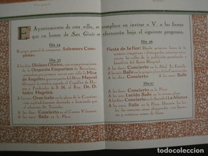 Coleccionismo Papel Varios: SANT GENIS DE VILASSAR-SAN GINES DE VILASAR-FESTEJOS AÑO 1928-VER FOTOS-(V-17.030) - Foto 7 - 165106870