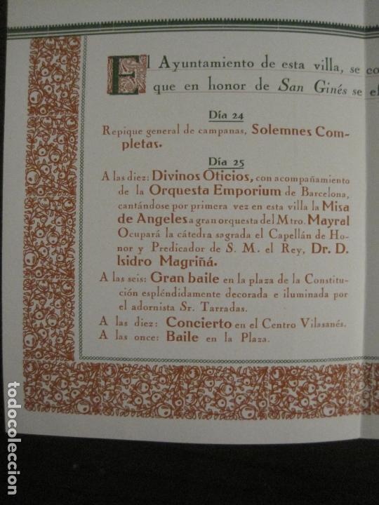 Coleccionismo Papel Varios: SANT GENIS DE VILASSAR-SAN GINES DE VILASAR-FESTEJOS AÑO 1928-VER FOTOS-(V-17.030) - Foto 8 - 165106870