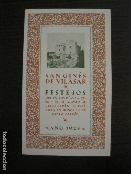SANT GENIS DE VILASSAR-SAN GINES DE VILASAR-FESTEJOS AÑO 1928-VER FOTOS-(V-17.030) (Coleccionismo en Papel - Varios)