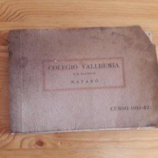 Coleccionismo Papel Varios: COLEGIO VALLDEMIA MARISTAS MATARO CURSO 1941 1942. Lote 165364066