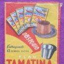 Coleccionismo Papel Varios: SOBRE PAPEL FLAN TAMATINA, INDUSTRIAS RIERA-MARSA, MIDE APROX. 7,5 X 10,5 CM. Lote 165492050