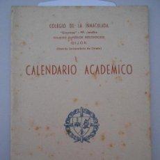 Coleccionismo Papel Varios: COLEGIO DE LA INMACULADA. SIMANCAS. PP. JESUITAS. COLEGIO SUPERIOR RECONOCIDO. GIJON. CALENDARIO ACA. Lote 165495950
