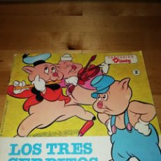 Coleccionismo Papel Varios: LOS TRES CERDITOS - FANTASIAS DISNEY - BRUGUERA 1981 - 1A EDICIÓN. Lote 165790830