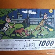 Coleccionismo Papel Varios: PUBLICIDAD SIMCA 1000. Lote 165974214
