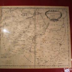 Coleccionismo Papel Varios: MAPA HUNTINGTON INGLATERRA. Lote 166116638