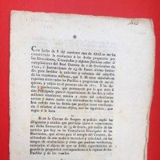 Coleccionismo Papel Varios: BLAS DE ARANZA - 1800 - NORMATIVA HACIENDA. Lote 166192070