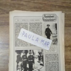Outros artigos de papel: MFF.- PARA LA HISTORIA DE LA GUARDIA MUNICIPAL.-. Lote 166270122