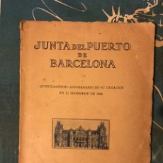 Coleccionismo Papel Varios: LIBRO JUNTA DEL PUERTO DE BARCELONA DE DICIEMBRE DE 1918. ANIVERSARIO 1868. PLANOS ANTIGUOS. Lote 166696725