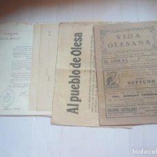 Coleccionismo Papel Varios: OLESA DE MONTSERRAT-DOCUMENTACIÓN. Lote 166748506