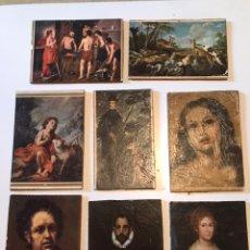 Coleccionismo Papel Varios: LOTE ANTIGUO IMPRESION EN TABLA. Lote 166872925
