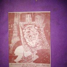 Coleccionismo Papel Varios: EXPOSICION HERLDICA EN EL ARTE BIBLIOTECA NACIONAL 1945 CATALOGO GUIA EXCMO. SR MARQUES DEL SANTILLO. Lote 166890260