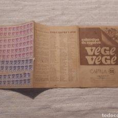Coleccionismo Papel Varios: CARTILLA PUNTOS PÓN VÉGE. Lote 167335360