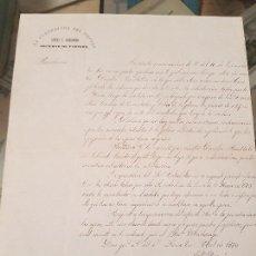 Coleccionismo Papel Varios: MINAS LA CUADRATURA DEL CIRCULO ANTES MINA SAN GREGORIO LORCA MURCIA 1878. Lote 167916856