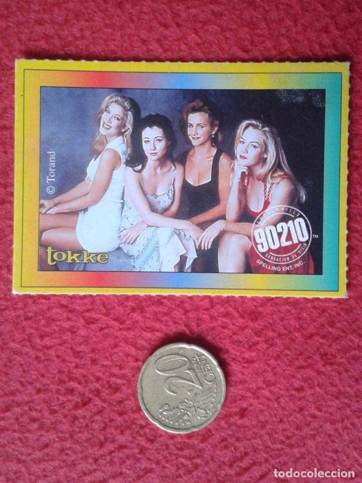 ANTIGUO CROMO OLD COLLECTIBLE CARD TOKKE SERIE TV TELEVISIÓN SENSACIÓN DE VIVIR 90210 BEVERLY HILLS (Coleccionismo en Papel - Varios)