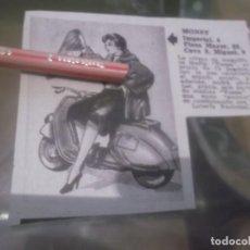 Coleccionismo Papel Varios: RECORTE PUBLICIDAD AÑOS 50 - TIENDA MONSY - MADRID - LE OFRECE MEDIA VESPA - MOTO VESPA. Lote 168186516