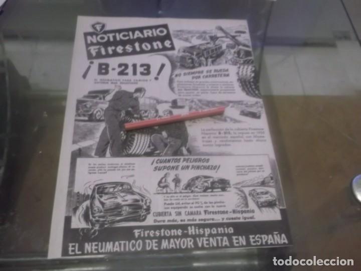 RECORTE PUBLICIDAD AÑOS 50 - NEUMATICOS FIRESTONE - HISPANIA (Coleccionismo en Papel - Varios)