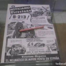 Coleccionismo Papel Varios: RECORTE PUBLICIDAD AÑOS 50 - NEUMATICOS FIRESTONE - HISPANIA . Lote 168187484