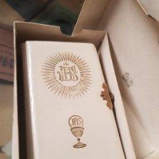 Coleccionismo Papel Varios: ANTIGUO DEVOCIONARIO RELIGIOSO COMUNION RIBERA REGINA BARCELONA. Lote 168252332