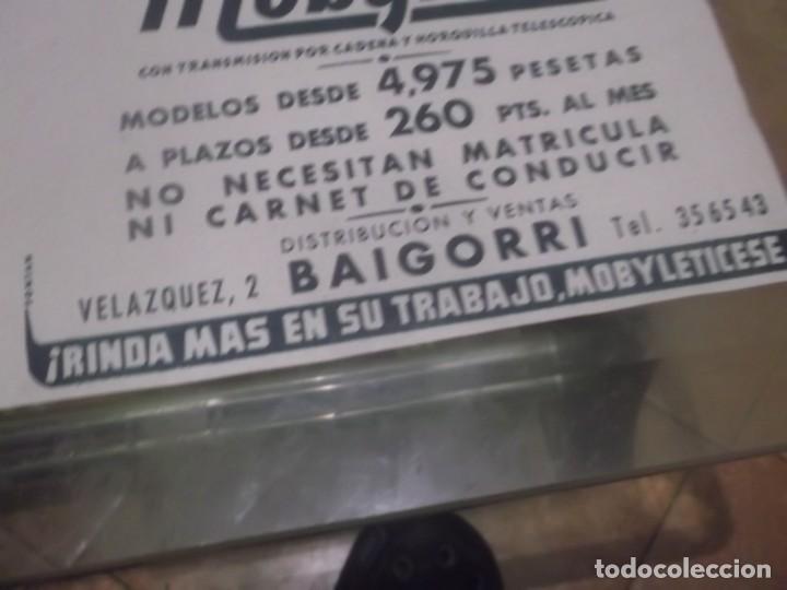 Coleccionismo Papel Varios: RECORTE PUBLICIDAD AÑOS 50 - MOTO - CICLOMOTOR MOBYLETTE - DISTRIBUCIÓN Y VENTAS BAIGORRI - Foto 2 - 168304432