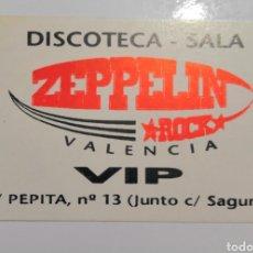 Altri oggetti di carta: TARJETA VIP DISCOTECA - SALA ROCK ZEPELIN. Lote 168328458