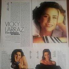 Coleccionismo Papel Varios: VICKY LARRAZ - REPORTAJE - ELLE. Lote 153377374