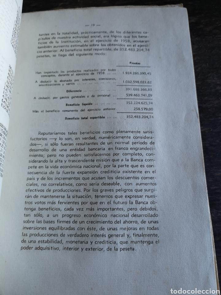 Coleccionismo Papel Varios: Banco central Madrid memoria ejercicio de 1958 - Foto 5 - 168549494