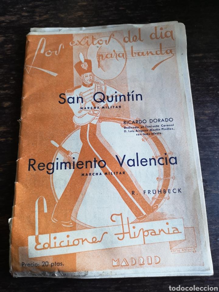 MARCHA MILITAR REGIMIENTO VALENCIA (Coleccionismo en Papel - Varios)