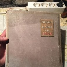 Coleccionismo Papel Varios: ANTIGUO DIETARIO DE LOS GRANDES ALMACENES DIETARIO DE EL SIGLO AÑO 1948 . Lote 168644308