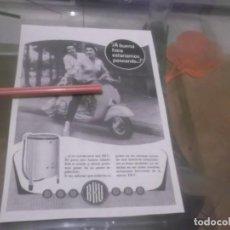 Coleccionismo Papel Varios: RECORTE PUBLICIDAD AÑOS 50 - LAVADORA BRU - MOTO VESPA . Lote 168762368