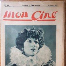 Coleccionismo Papel Varios: REVISTA FRANCESA MON CINÉ. RAQUEL MELLER. 1922. Lote 168809444