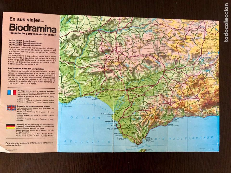 Coleccionismo Papel Varios: Folleto BIODRAMINA años 80 con mapa parcial de Andalucía - Foto 2 - 168853842