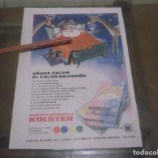 Coleccionismo Papel Varios: RECORTE PUBLICIDAD AÑOS 50 - MANTAS AUTOMÁTICA KOLSTER --KOLSTER IBERICA-BARCELONA. Lote 169081388