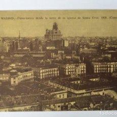 Coleccionismo Papel Varios: POSTAL MADRID DESDE IGLESIA SANTA CRUZ 1929- EDICIÓN MUSEO MUNICIPAL DE 1984. Lote 169138984