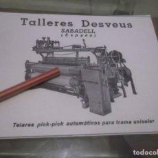 Coleccionismo Papel Varios: RECORTE PUBLICIDAD AÑO 1947 - TALLERES DESVEUS - SABADELL - BARCELONA . Lote 169174064